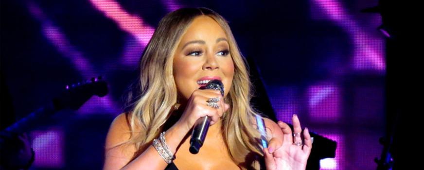Mariah Carey During Caution World Tour