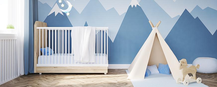 Mountain Themed Baby Nursery Idea