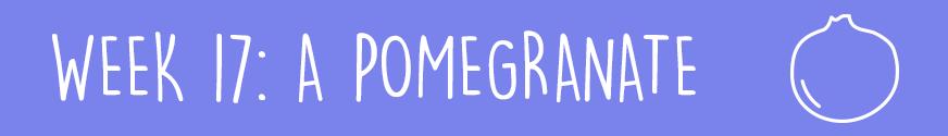 Second Trimester Week 17: A pomegranate