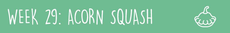 Third Trimester Week 29: An acorn squash
