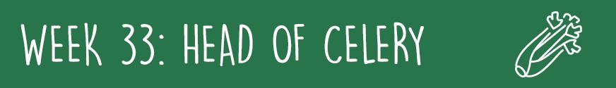 Third Trimester Week 33: A head of celery