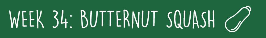 Third Trimester Week 34: A butternut squash
